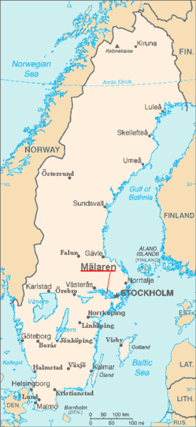 See on this map of Sweden that